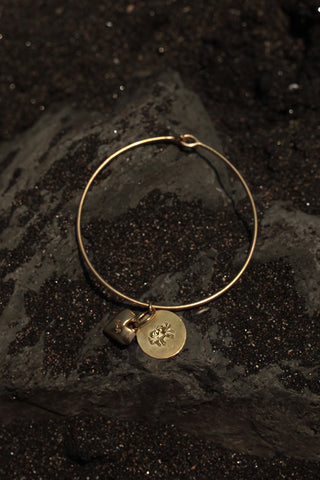 CANCER HEART BANGLE