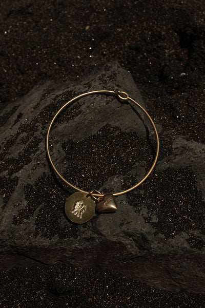 GEMINI HEART BANGLE