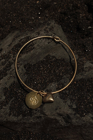 PISCES HEART BANGLE