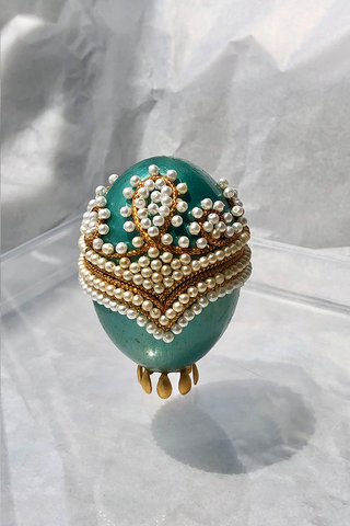 FEHMI JEWELLED EGG - EMERALD