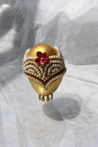 FEHMI JEWELLED EGG - GOLD