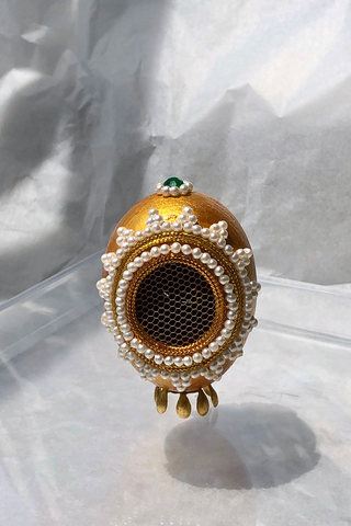 FEHMI JEWELLED EGG - SUNSET GOLD