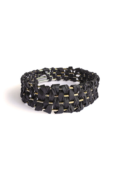 PALM BANGLE - BLACK