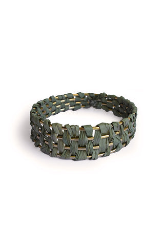 PARADISE PALM BANGLE - GREEN
