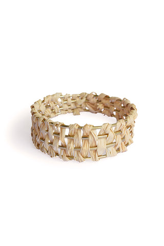 PARADISE PALM BANGLE - NATURAL