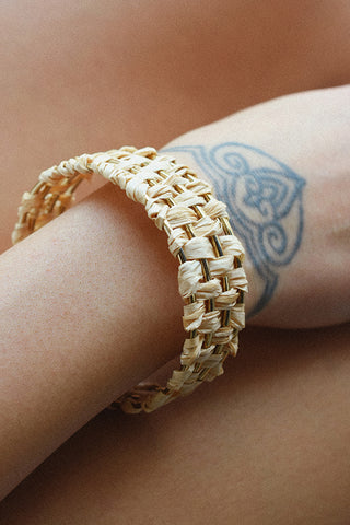 PALM BANGLE - NATURAL