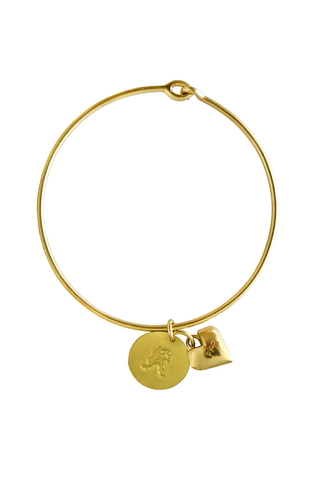 AQUARIUS HEART BANGLE