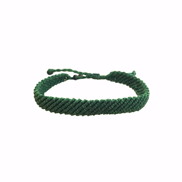Handmade Braided Matcha Green Bracelet | Vakano Bracelets | Handmade bracelets for men | Wax Bracelet | from Colombia