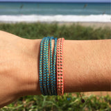 Ocean Blue Wave - Wayuu Give Bracelets - 3