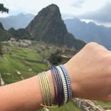 Minty Fresh Leather Stud Bracelet - Wayuu Give Bracelets - 2