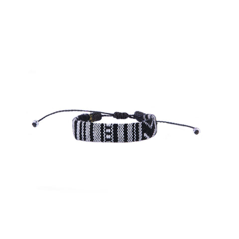 The Inka Native Handmade Vakano Bracelet from Colombia Black and White