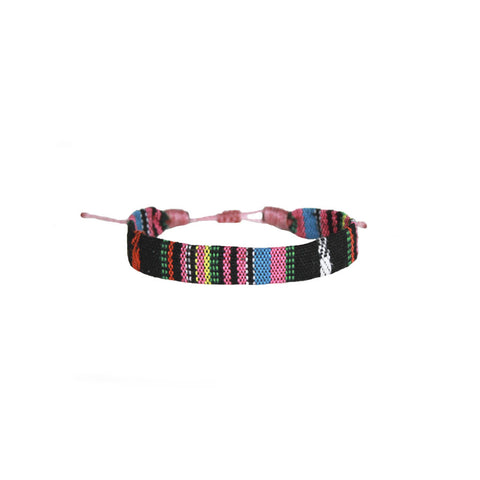 Inka Sucre, pink handmade bracelet Vakano from Colombia