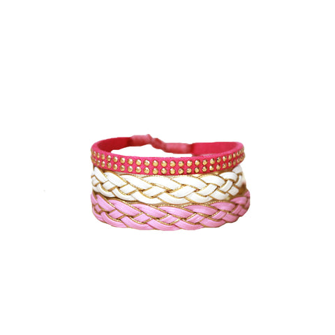 Pink Braided Stack