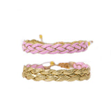 Pink Braided - Wayuu Give Bracelets - 1
