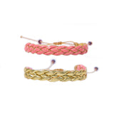 Salmon Braided - Wayuu Give Bracelets - 1
