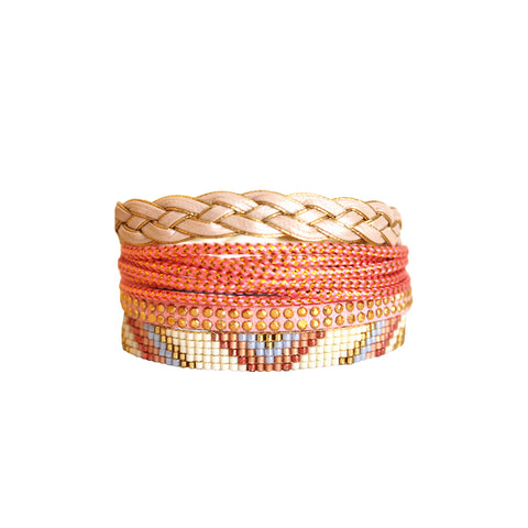 Pink Sol Beaded Stack