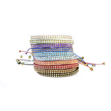 Minty Fresh Leather Stud Bracelet - Wayuu Give Bracelets - 5