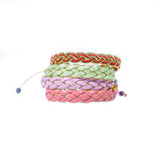 Salmon Braided - Wayuu Give Bracelets - 3