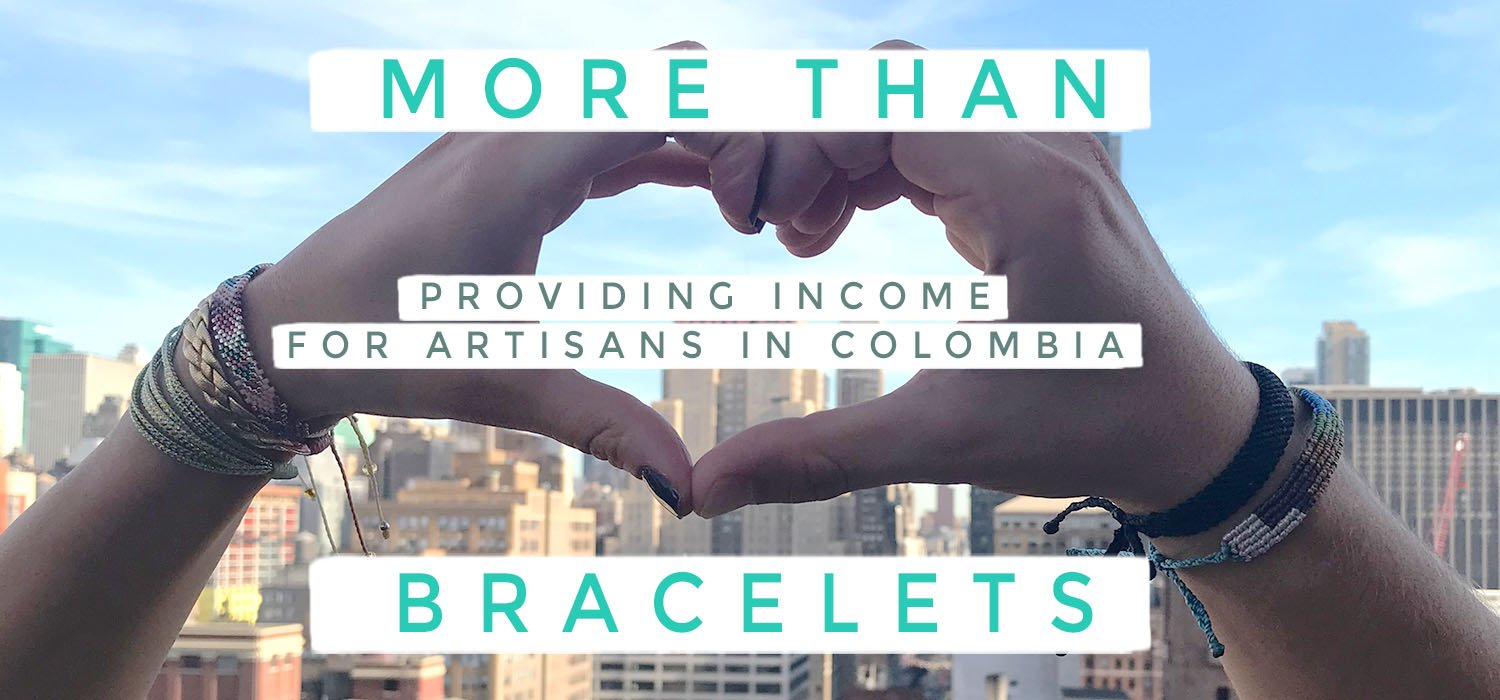 Ethical Bracelets | Vakano Bracelets providing income for artisans in Colombia