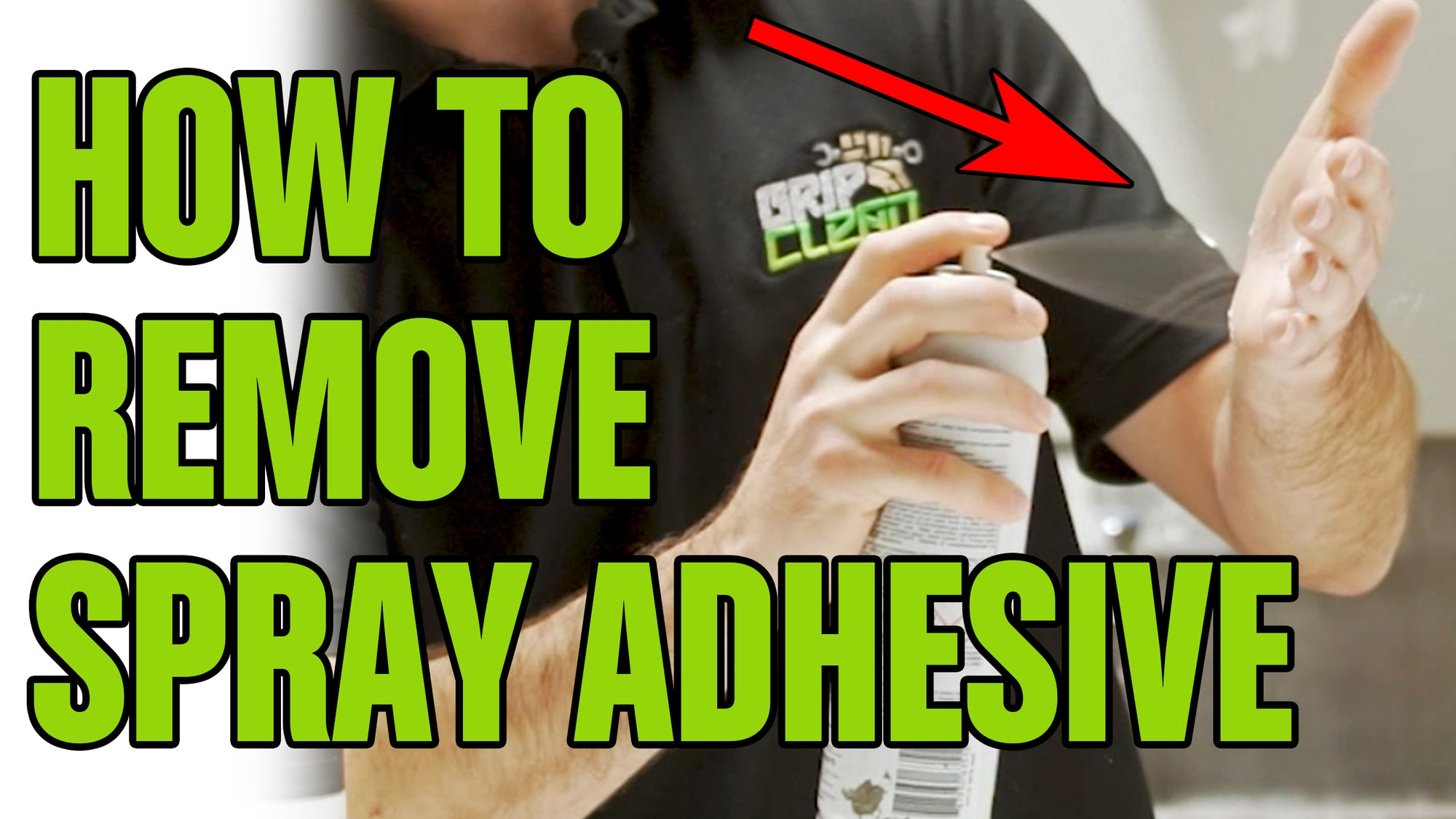 HOW TO REMOVE: Spray Adhesive From Your Hands