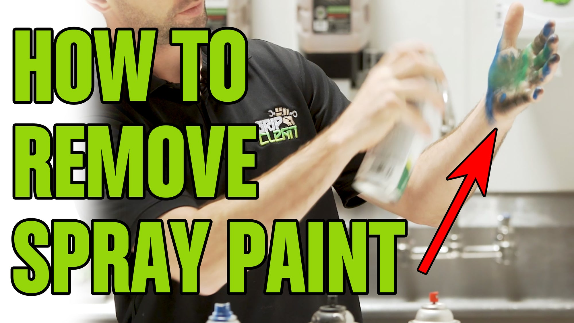 HOW TO REMOVE: Spray Paint From Your hands