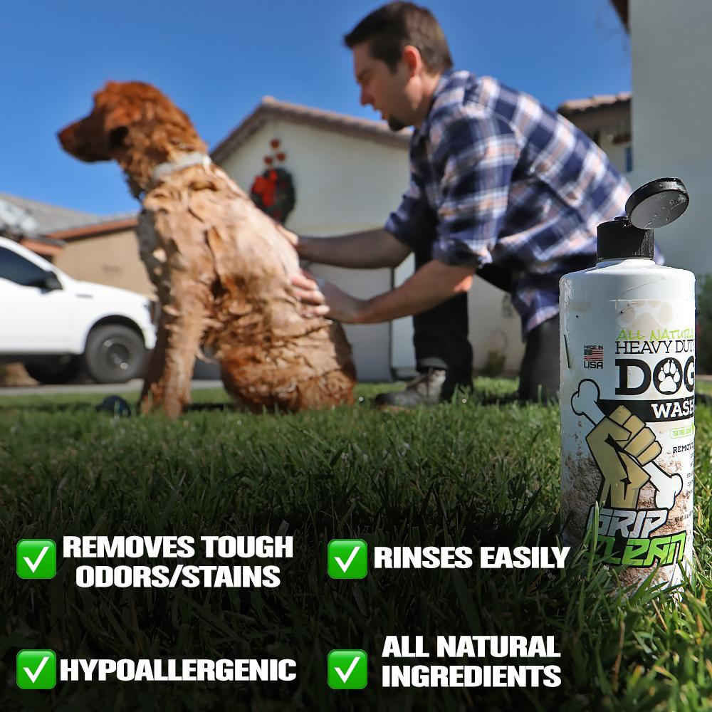 ABOUT THE FORMULA: All-Natural Heavy Duty Dog Wash