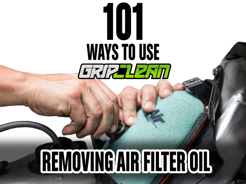 Removing Air Filter Oil Spray