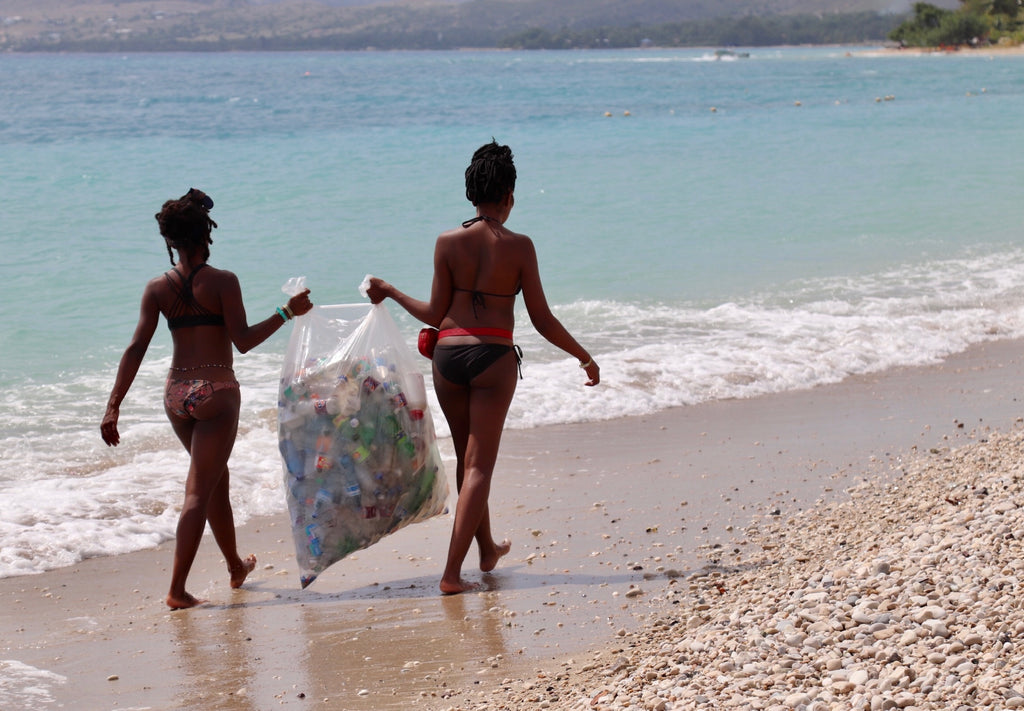 beach clean up in haiti