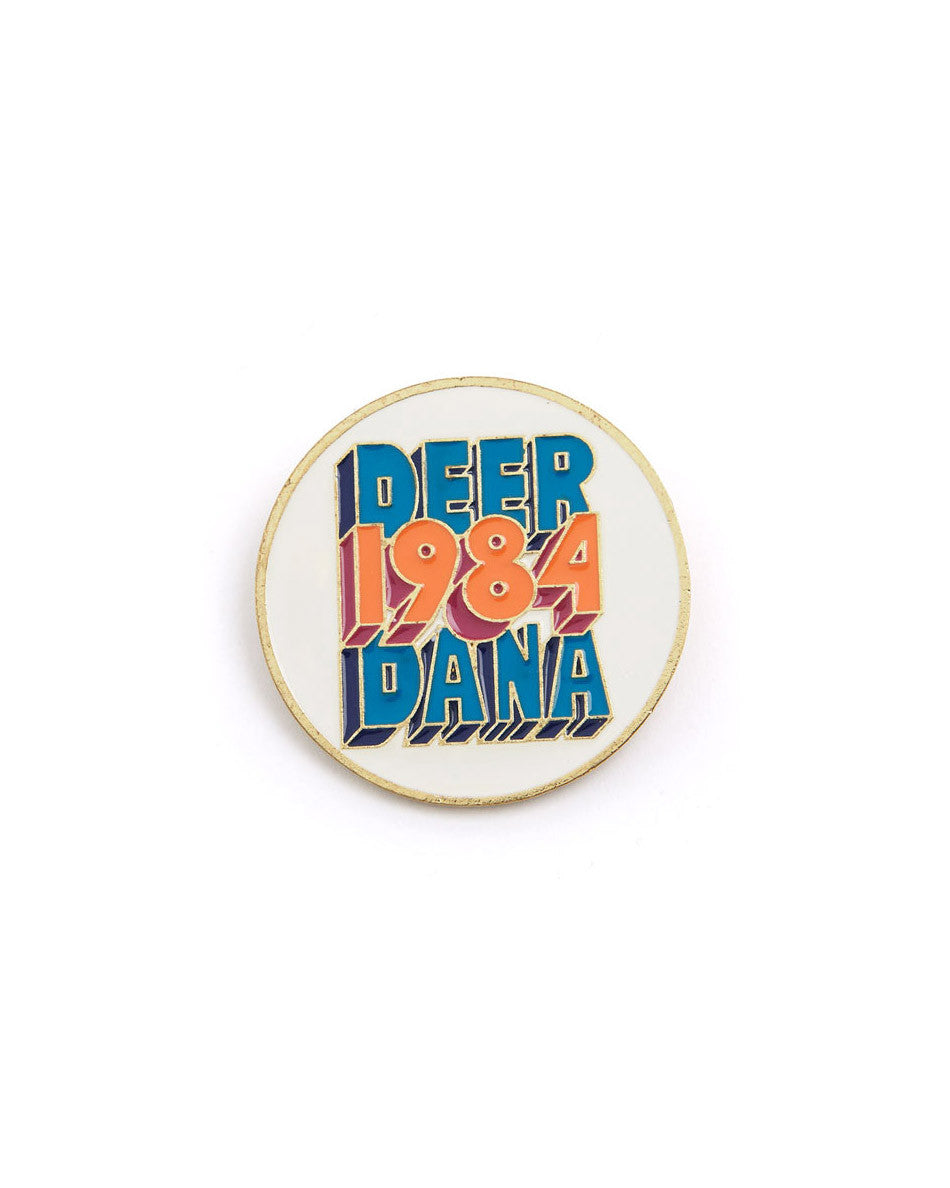 1984 FILL ENAMEL LAPEL PIN