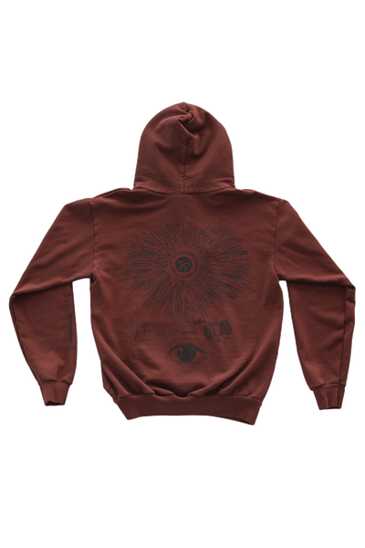 Be Here Now Hoodie - Chocolate Hoodie