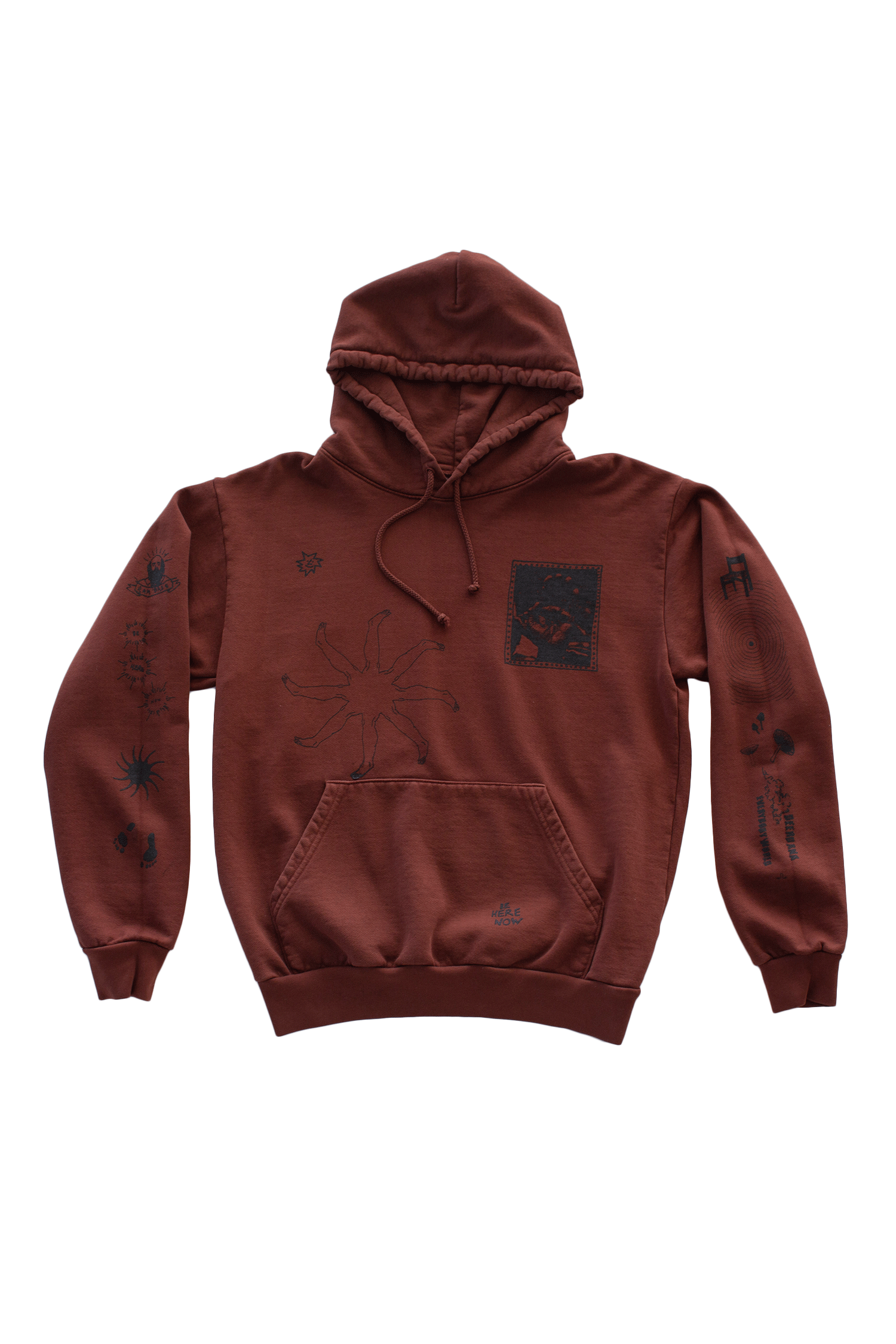 Be Here Now Hoodie (Chocolate)