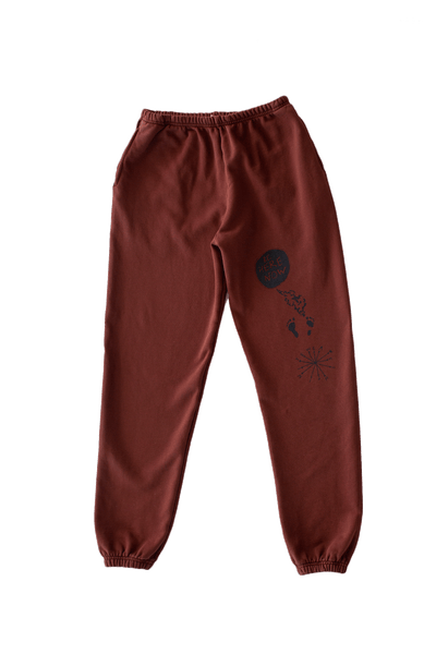 Be Here Now Sweatpants (Chocolate)