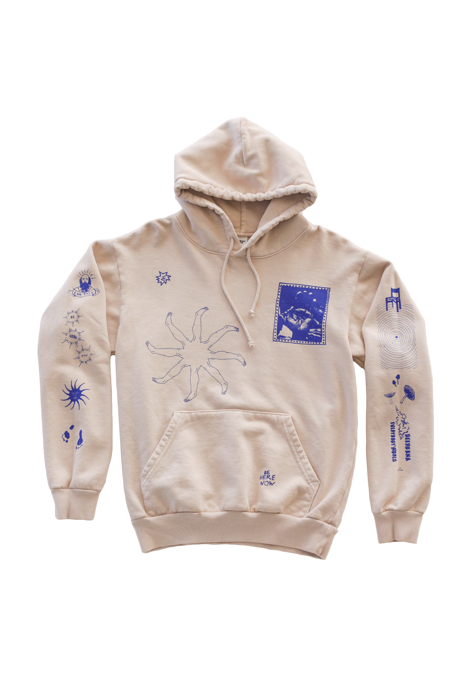 Be Here Now Hoodie - Cream Hoodie