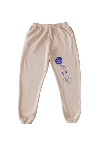 Be Here Now Sweatpants (Cream)