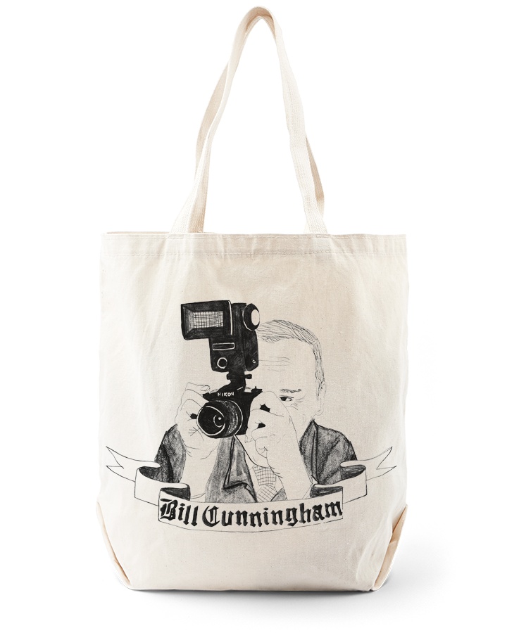 Bill Cunningham Tote Bag