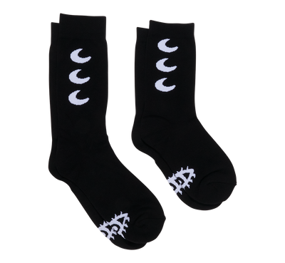 Stars & Moon Socks (Black)