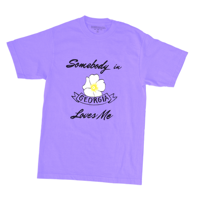 Somebody in Georgia Loves Me Tee (Purple)