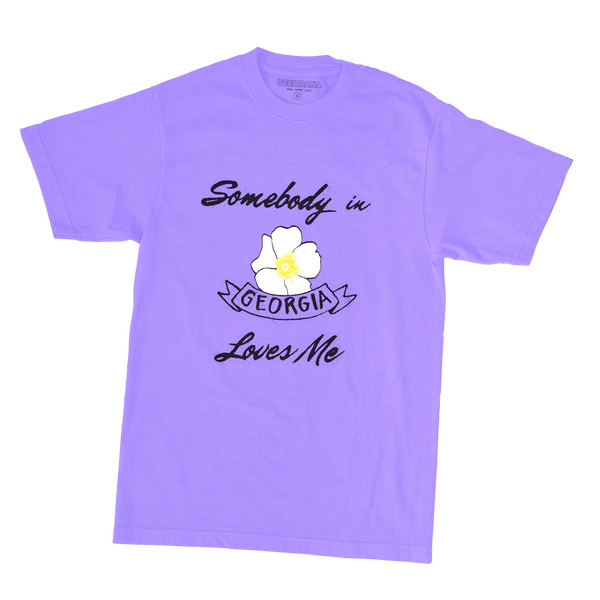 Somebody in Georgia Loves Me - Purple Tee