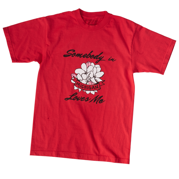 Somebody in Michigan Loves Me - Red Tee