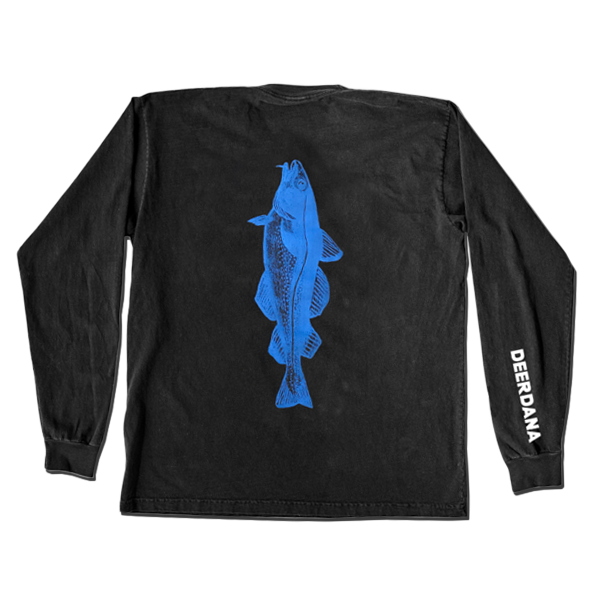 Blue Cod Long Sleeve Tee (Black)