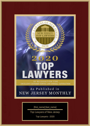 New Jersey Top Lawyers 2020