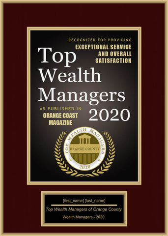 Orange County Top Wealth Managers 2020