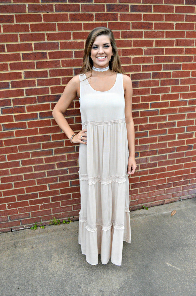 Natural Layered Maxi Dress