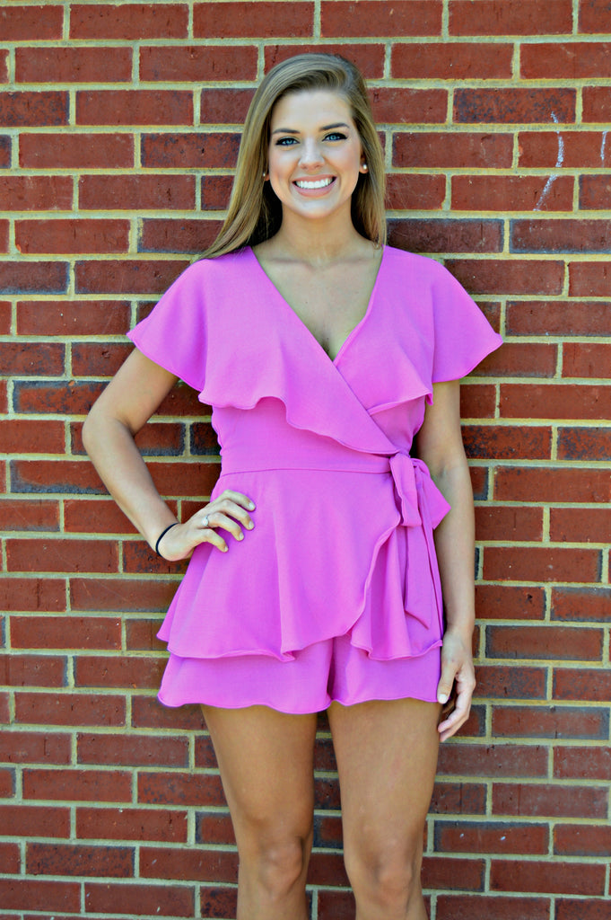 Orchid Ruffle Romper