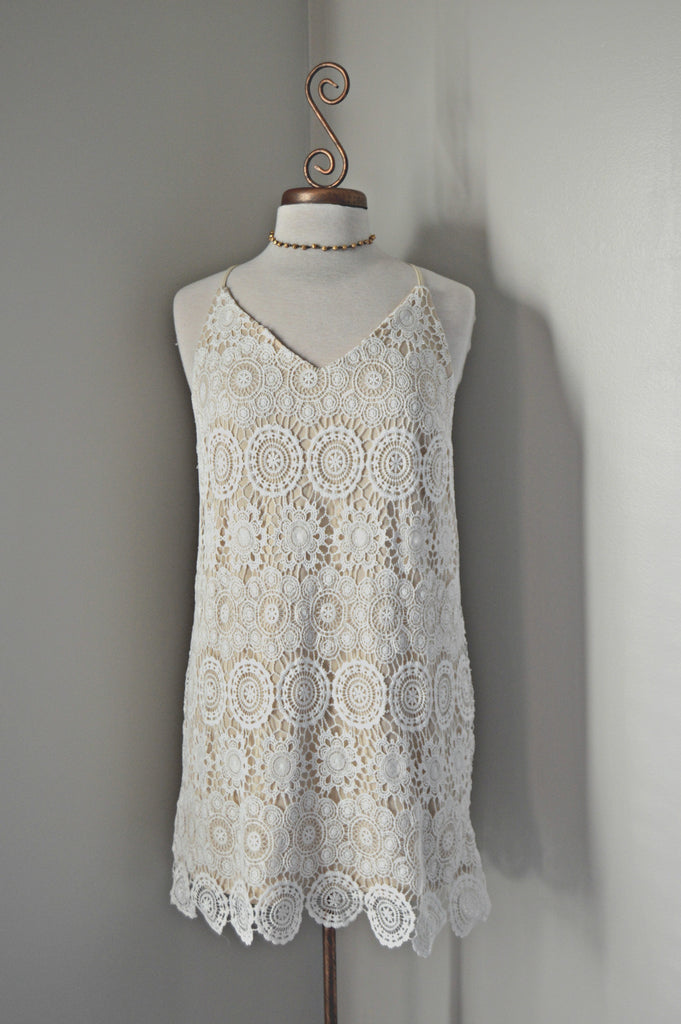 Ivory Crochet Dress Frock Therapy Boutique