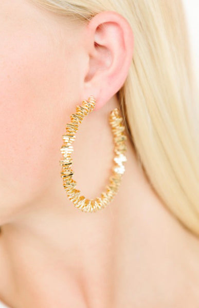 Go For Gold Hoops