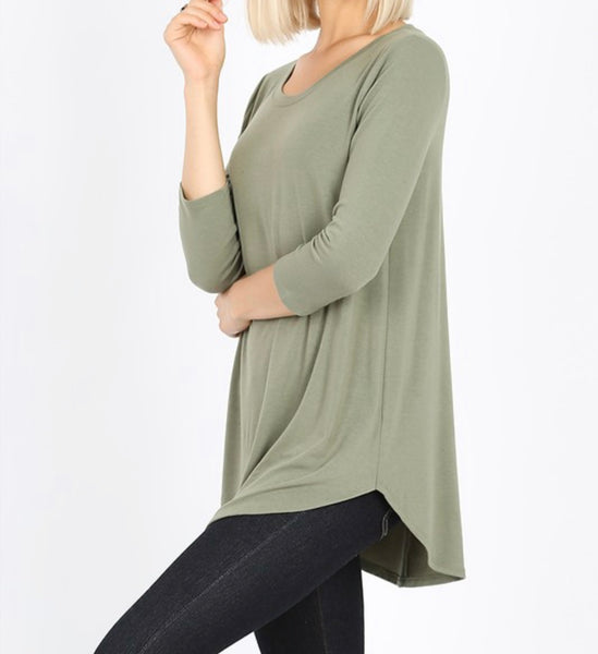 Be Basic Tunic - Light Olive