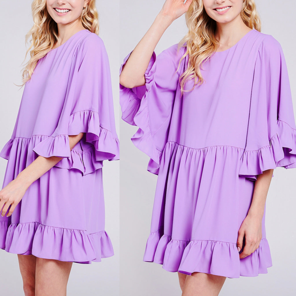 Lilac Ruffle Dress