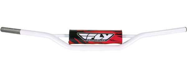 FLY RACING 1010 CARBON STEEL HANDLEBAR YAMAHA (WHITE) PART# MOT-107X-PC-W NEW