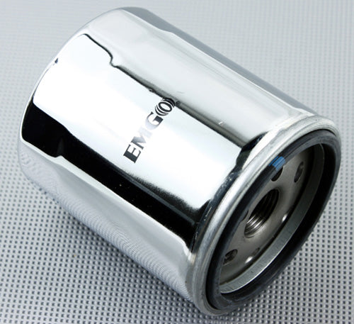 EMGO 2007-2012 Harley-Davidson XL1200N Nightster OIL FILTER H-D CHROME 10-82442